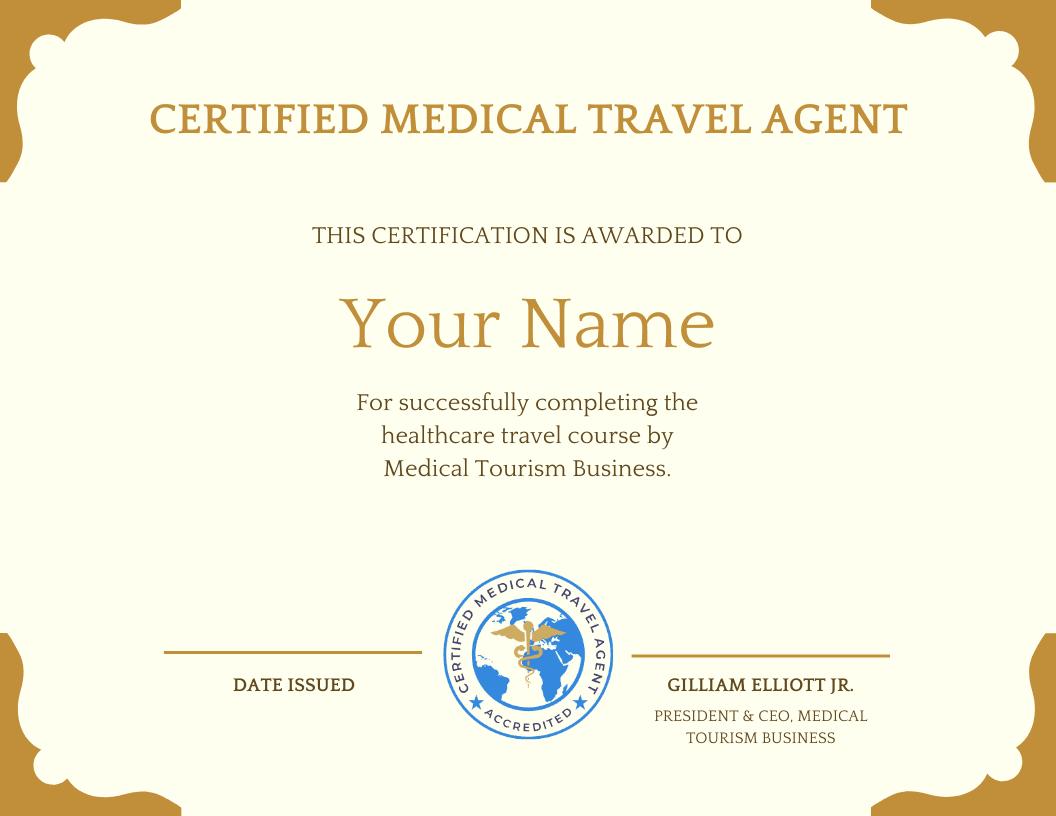 medical and wellness tourism certification for facilitators